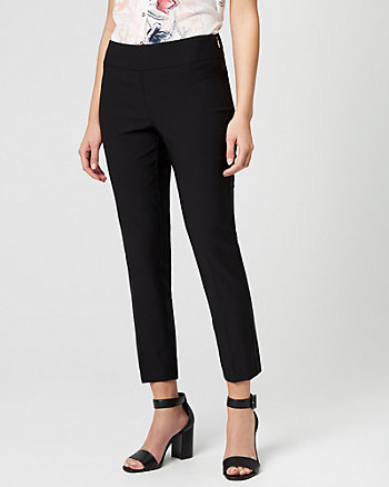 Stretch Satin Slim Leg Crop Pant