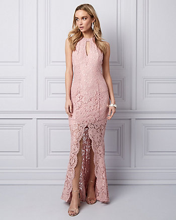 Lace Halter Gown