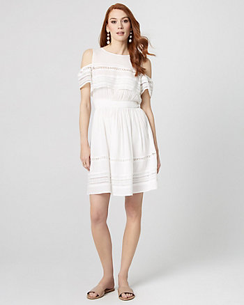 Cold Shoulder Ruffle Dress