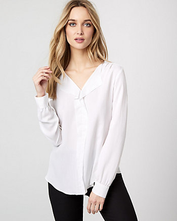 Modal V-Neck Drape Blouse