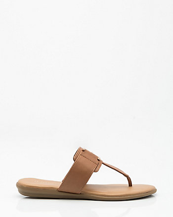 Metal-Trim Thong Sandal