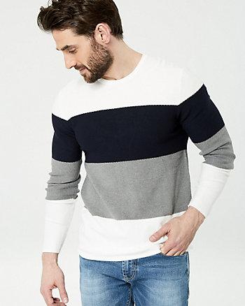 Colour Block Viscose Blend Sweater