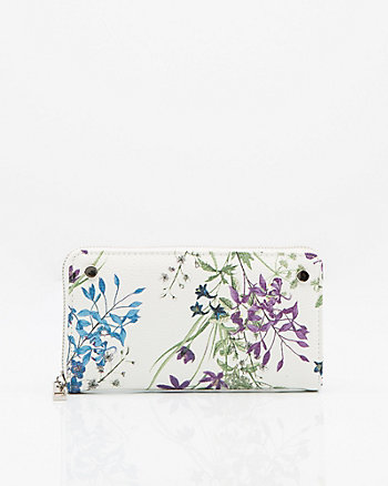 Floral Print Zip Around Organizer Wallet