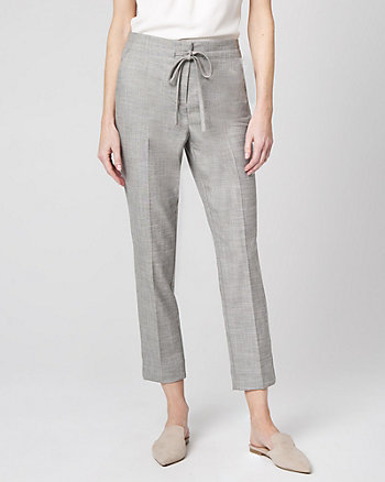 Crosshatch Drawstring Track Pant