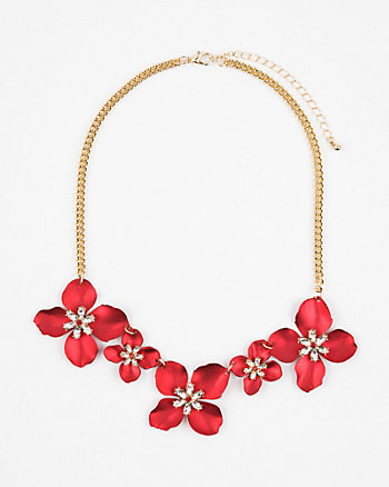 Flower Gem Collarbone Necklace