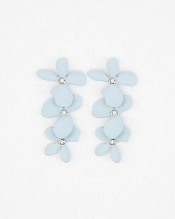 Floral Linear-Drop Earrings