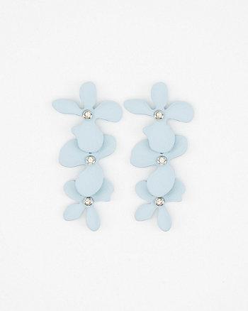 Floral Linear-Drop Earrings