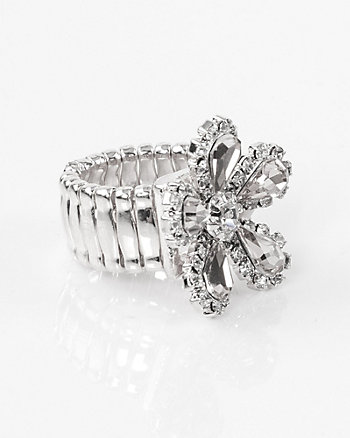 Floral Gem Stretch Ring