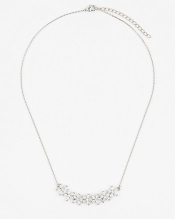 Floral Gem Collarbone Necklace