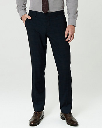 Glen Check Straight Leg Pant