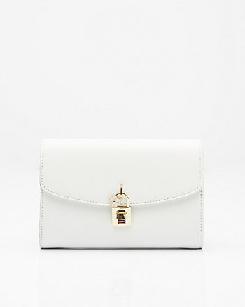 Saffiano Faux Leather Clutch