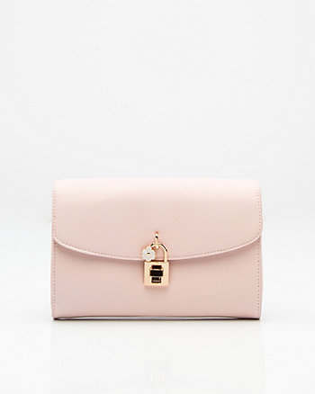Saffiano Leather-Like Clutch