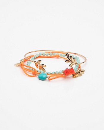 Set of Four Stretch Bracelets