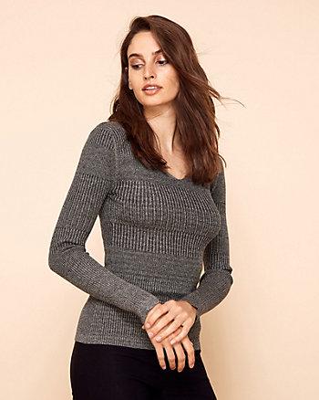 Chandail en tricot à côtes