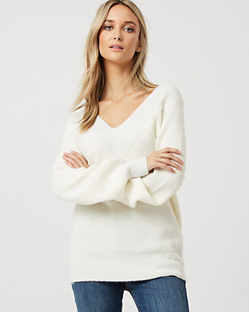 Chandail à manches bouffantes en tricot