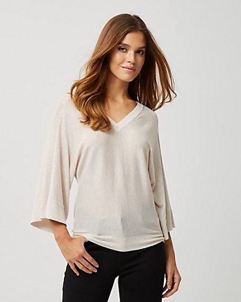 Rib Knit Dolman Sleeve Sweater