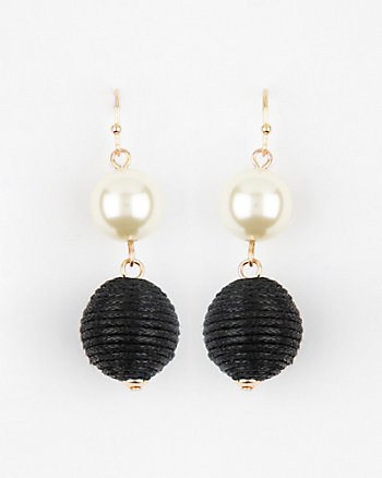 Pearl-Like Ball Drop Earrings