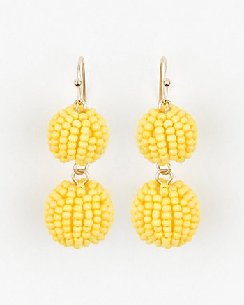 Gem Ball Drop Earrings