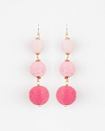 Multi-Coloured Ball Drop Earrings