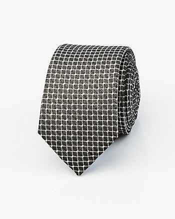 Metallic Check Print Tie