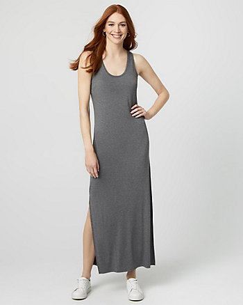 Jersey Knit Scoop Neck Maxi Dress