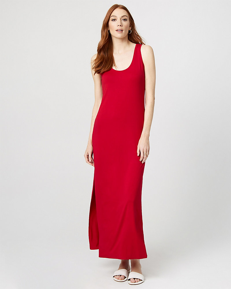 43a43bf9fa3 Jersey Knit Scoop Neck Maxi Dress
