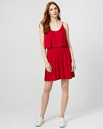 Jersey Knit Flowy Dress