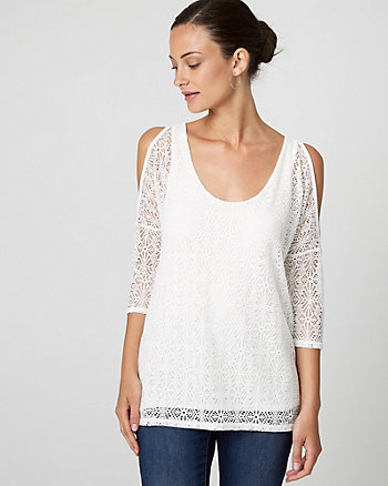 Crochet Cold Shoulder Top