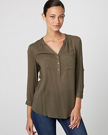 Viscose Henley Blouse