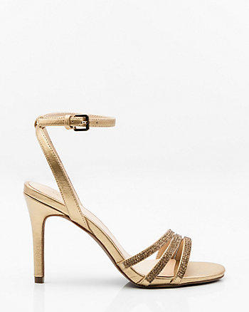 Jewelled & Metallic Strappy Sandal