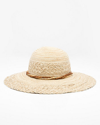 Beaded Wide Brim Floppy Hat