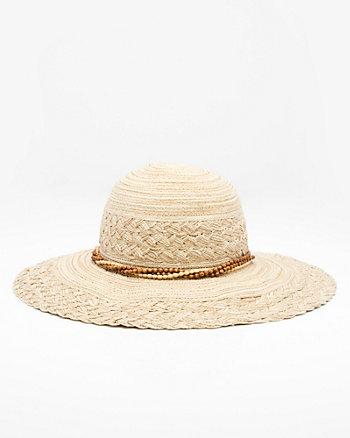 Beaded Wide Brim Floppy Hat