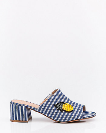 Stripe Pineapple Patch Mule