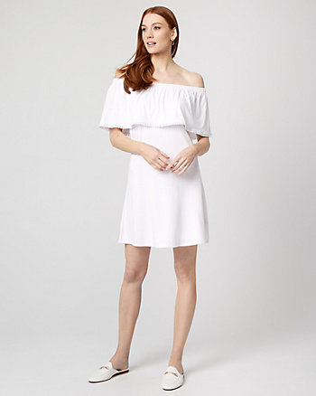 Jersey Knit Off-the-Shoulder Dress