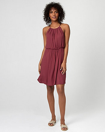 Challis Halter Dress