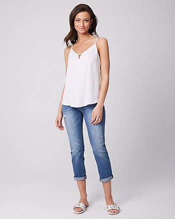 Chiffon Scoop Neck Camisole