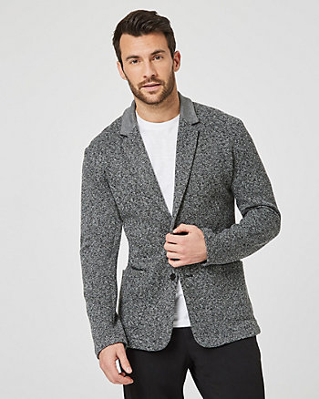 Tonal Tweed Semi-Fitted Blazer