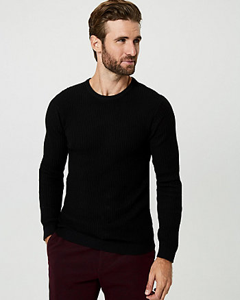 Cotton Blend Slim Fit Sweater