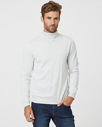 Tonal Cotton Turtleneck Sweater
