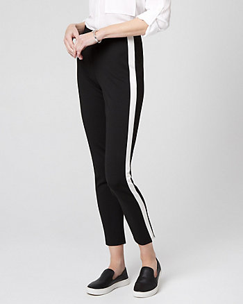 Side Stripe Ponte Knit Legging