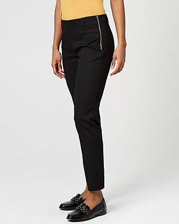 Cotton Sateen Slim Leg Pant