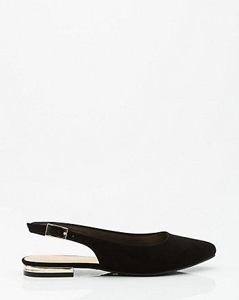 Pointy Toe Slingback Sandal