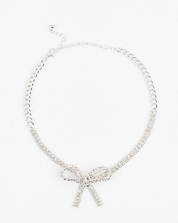 Bow Gem Choker Necklace