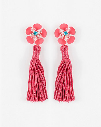 Gem Tassel Earrings