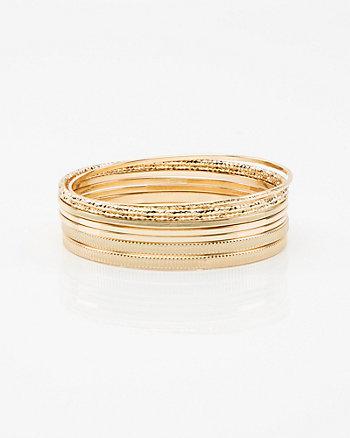 Set of Eight Bangle Bracelets