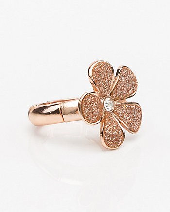 Floral Glitter Ring