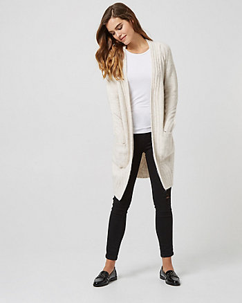Rib Knit Open Front Cardigan