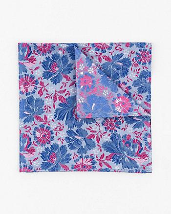 Floral Print Microfibre Pocket Square