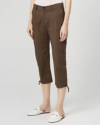 Stretch Cotton Poplin Cargo Pant