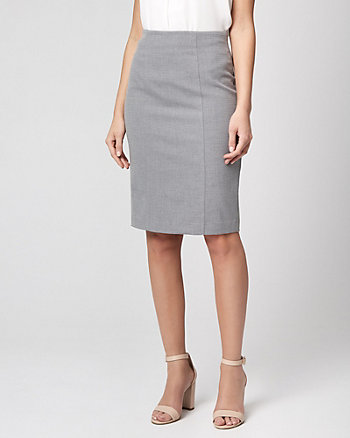 Piqué Pencil Peplum Skirt